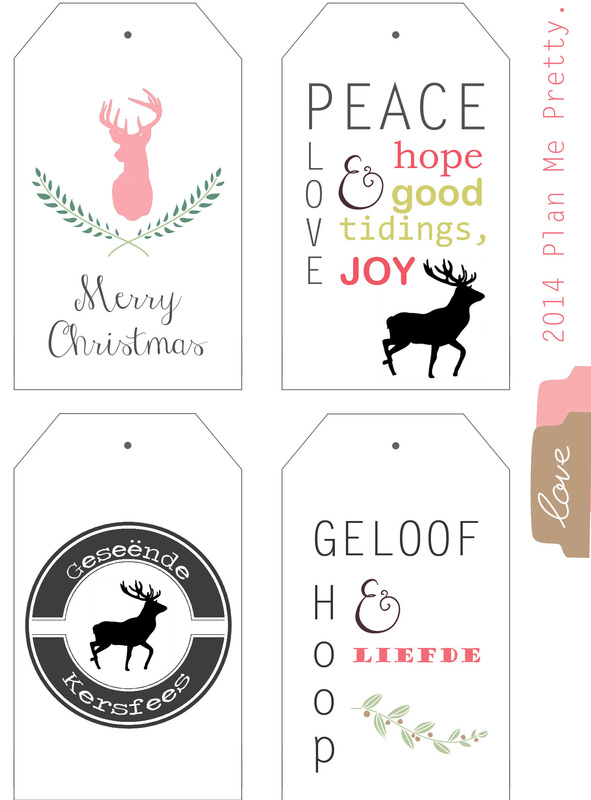 christmas cards, tags - free printable