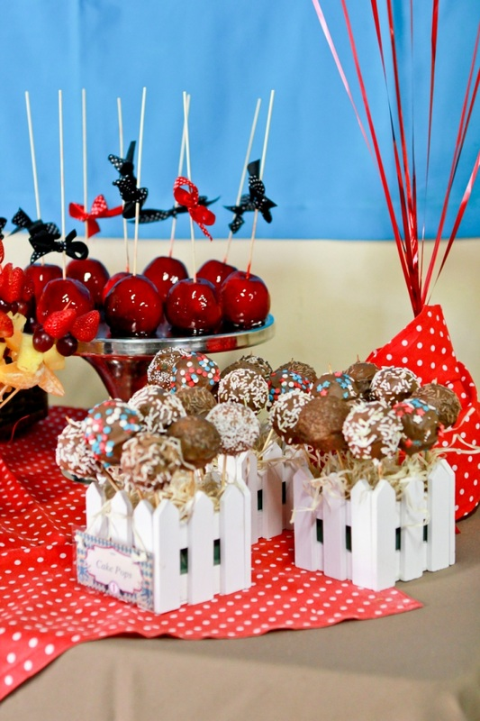 Candy apples and cake pops