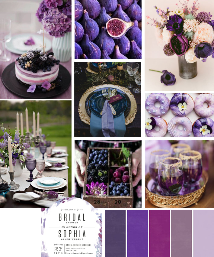 Mood board Ultra Violet